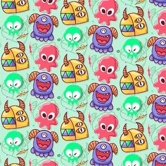 스티커 몬스터의 패턴
