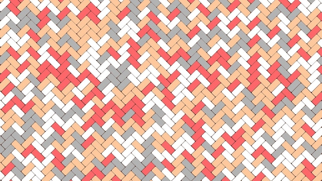 タイルの石畳の舗装のパターン。色の幾何学的なモザイク通りのタイル。