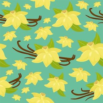 バニラ・フラワーのパターン