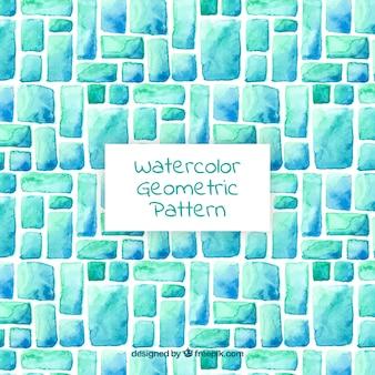 水彩色の幾何学的形状のパターン