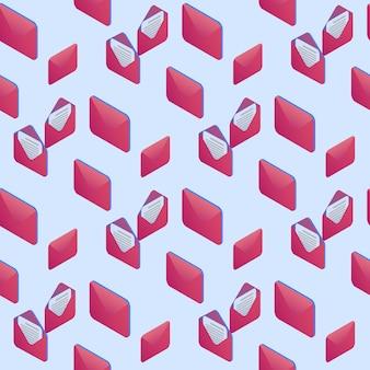 パターン飾り封筒とデジタルクリップアート。