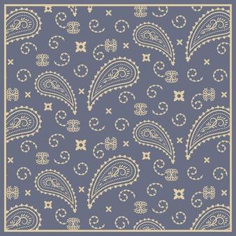 Pattern in paisley bandana style