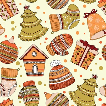 Pattern pattern with christmas theme. can be used for wallpaper or wrapping paper