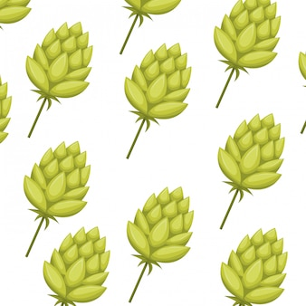 Pattern pinecone green isolated icon