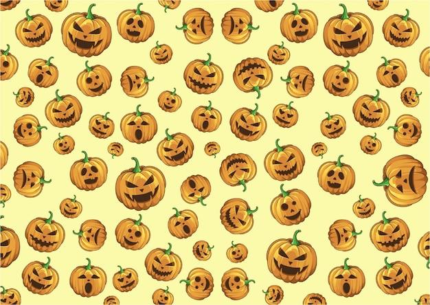 Pattern pumpkin halloween background