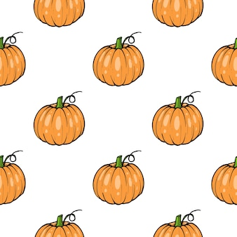 Pattern pumpkin - squash for halloween or thanksgiving flat color icon for apps and websites