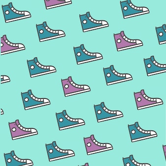 Pattern purple and blue shoes