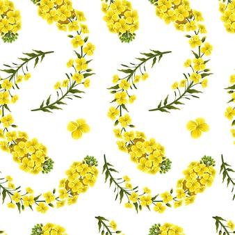 Выкройка цветов рапса, рапса. brassica napus.