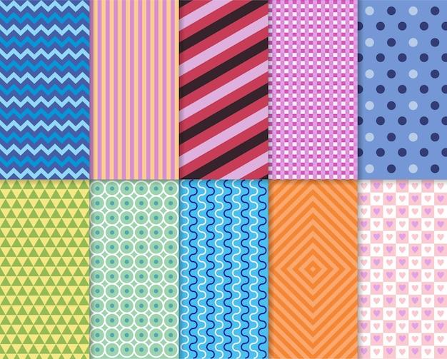 패턴 이음새 장식 세트 파스텔 패턴 초대 초대 템플릿 카드 생일 파티