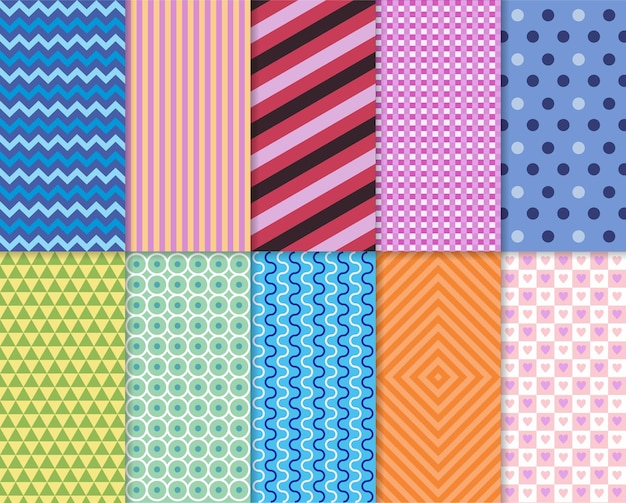 Pattern seamles decoration set pastel patterns for invitation invite templates cards birth party