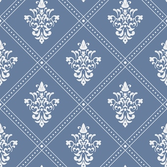 Pattern seamless baroque. background design vintage style flat.