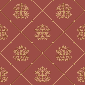 Pattern seamless baroque style. floral damask design background,