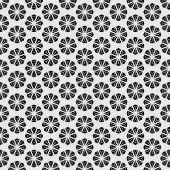 패턴 원활한 일본 스타일 꽃