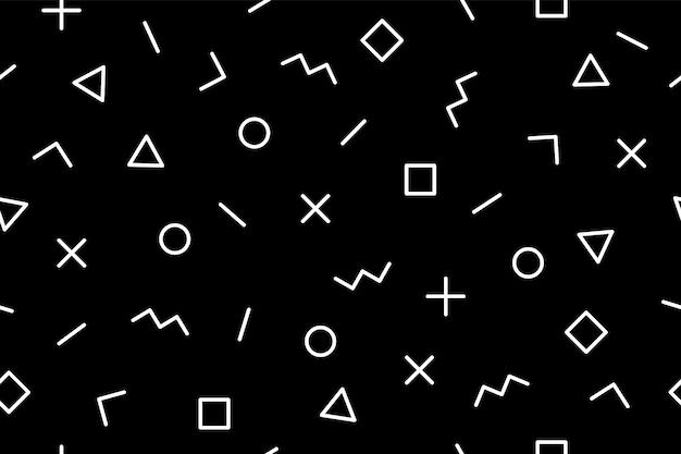 パターン。シームレスなメンフィスの幾何学的なグラフィックパターン