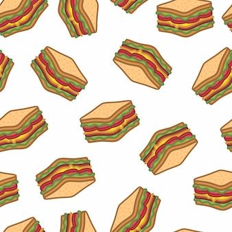 サンドイッチのシームレスなパターン