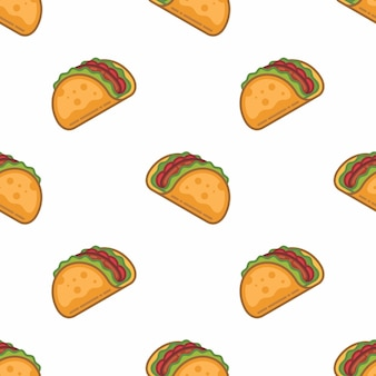 Pattern seamless of taco