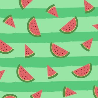 패턴 슬라이스 수박 안녕하세요 여름