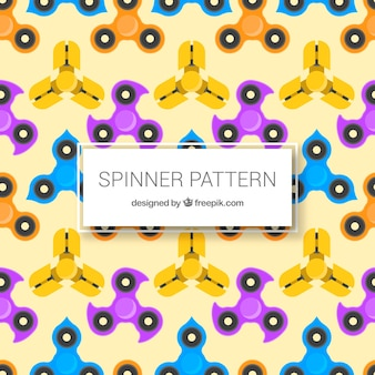 Pattern of spinners in flat design