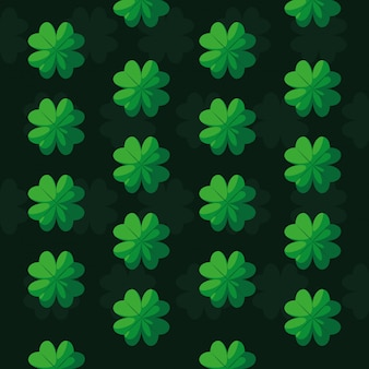 Pattern of st patrick day with clovers