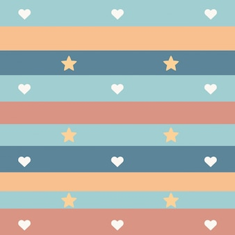 Pattern and striped background