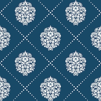 Pattern in style victorian baroque. floral element background ornament,