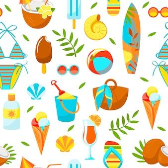 Выкройка летние предметы пляжная тематика привет лето