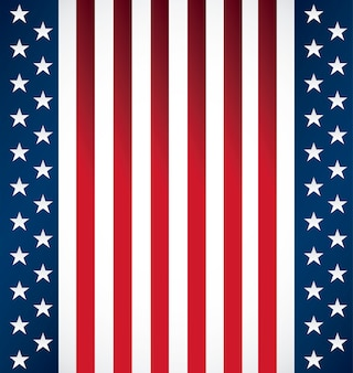 Pattern of united state of american flag s
