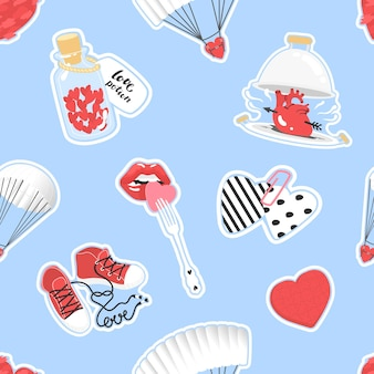 Pattern for valentines day vector illustration