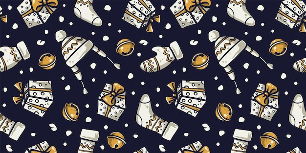 Pattern wallpaper new year or christmas clothes
