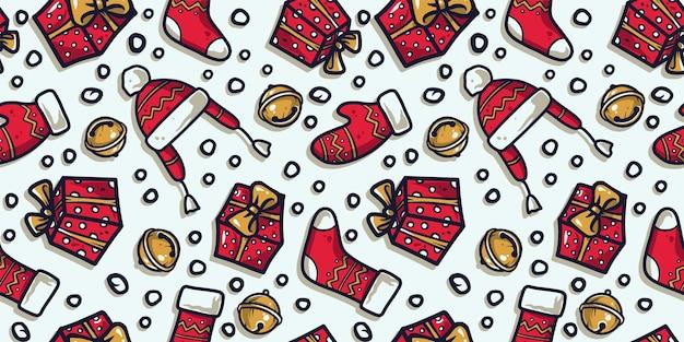 パターン壁紙新年またはクリスマス服