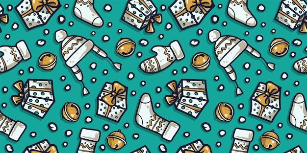 パターン壁紙新年やクリスマスの服