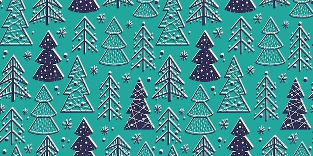Узор обоев с рождеством ель новый год