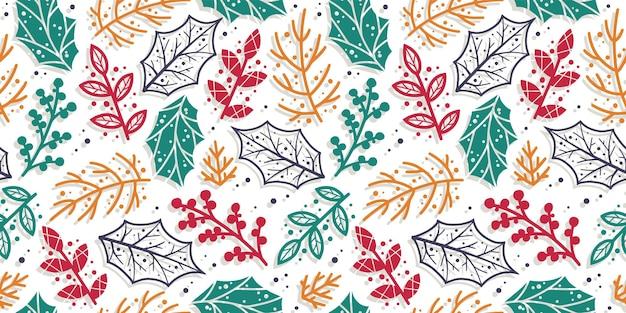 デザインのための葉と枝とパターンの壁紙