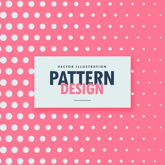 Pattern of white dots on a pink background