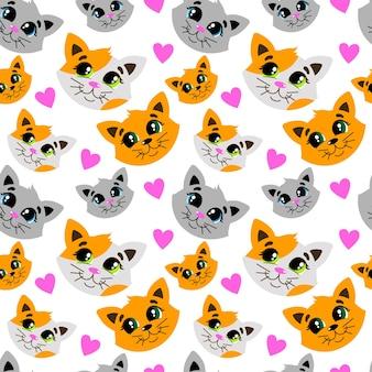 かわいい猫トリコロール猫とのパターン