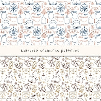 Pattern with bakery elements