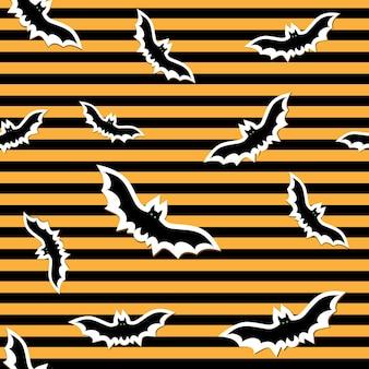 할로윈, 고립 된 벡터 일러스트 레이 션에 박쥐와 패턴입니다.