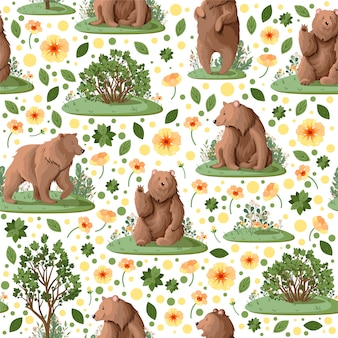 Pattern with bears.