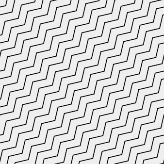 Pattern with black zig zag lines