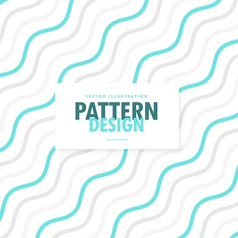 Pattern with blue wavy lines