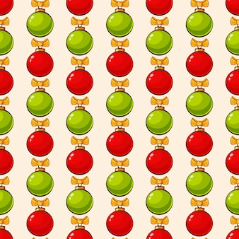 Pattern with christmas balls seamless background