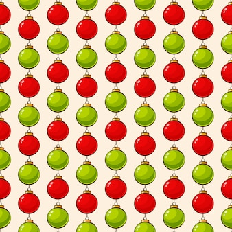 Pattern with christmas balls