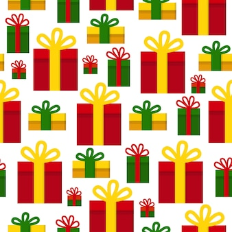 A pattern with christmas gifts holiday