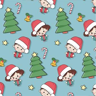 Pattern with christmas motifs