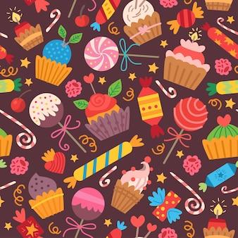 Шаблон с красочными конфетами. на день рождения