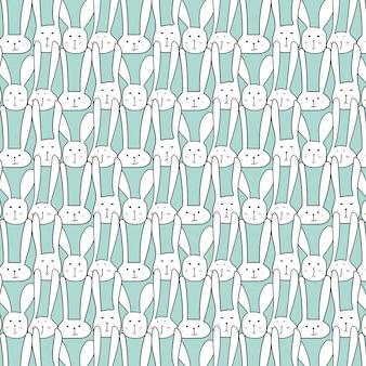귀여운 토끼와 패턴입니다.