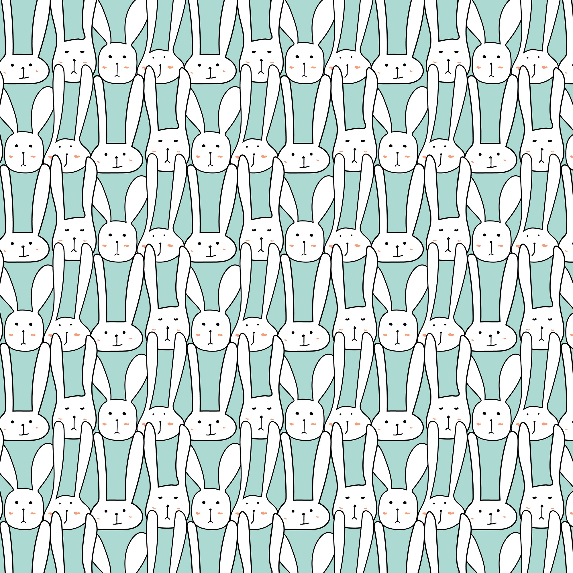 Pattern With Cute Bunnies.