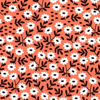 かわいい花のパターン。シームレスパターン。