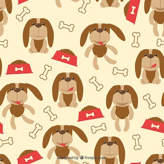 Pattern with dogs