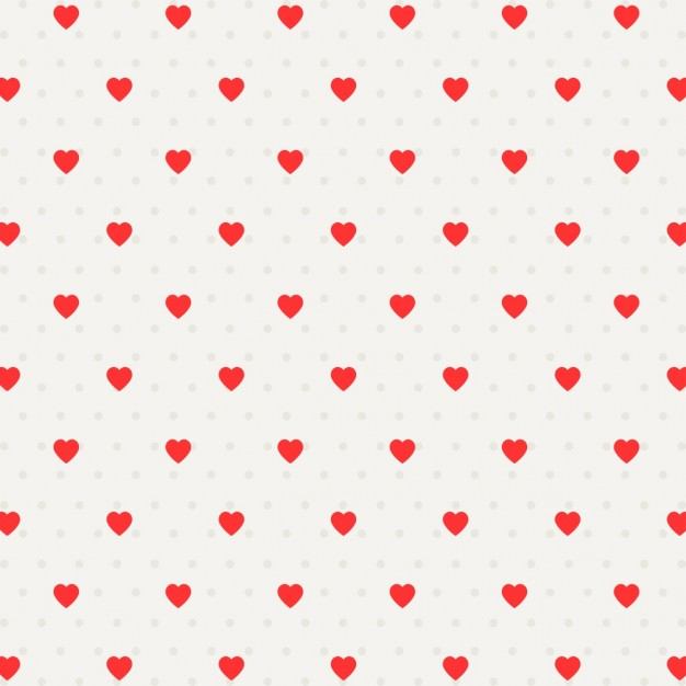 Pattern with dots and hearts